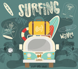 Surfing Poster - 204135697