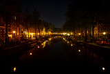 Amsterdam canal at night - 204138838