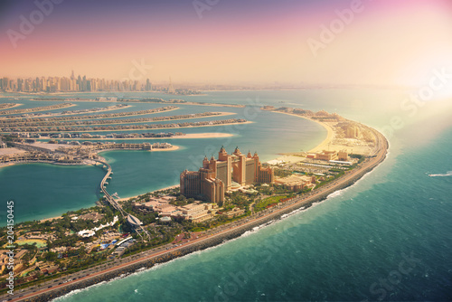 obraz PCV Palm Island in Dubai, aerial view