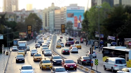 Poster traffic motion and city
