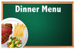 A Dinner Menu on Chalk Board Template - 204162636