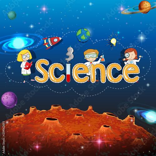 Plexiglas Kids Science Banner on Planet Template