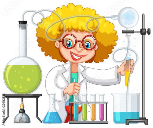 Plexiglas Kids A Student in Science Lab Class