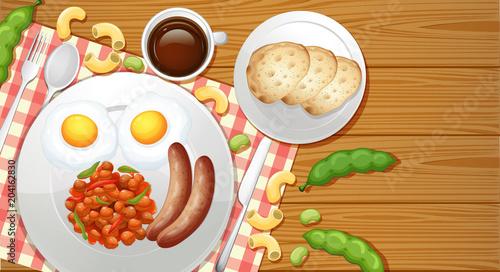 Plexiglas Kids Healthy Meal from Top View