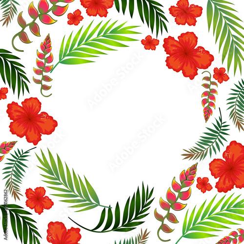 Plexiglas Kids Beautiful Tropical Summer Flower Template