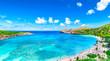 Hanauma Bay from distance in Hawaii