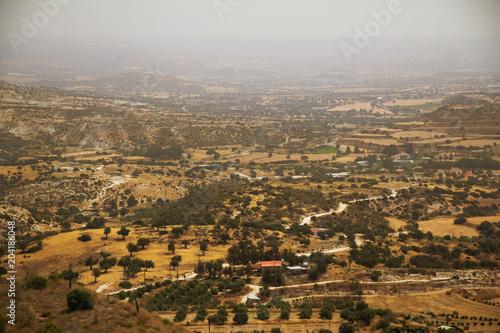 Plexiglas Cyprus Countryside view from Pissouri village