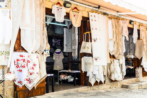 Fotobehang Freesurf Traditional villages of Cyprus with lace workshops. Omodos