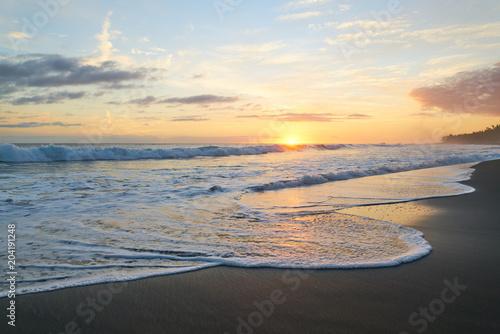 Sunset Etang Salé beach Reunion Island