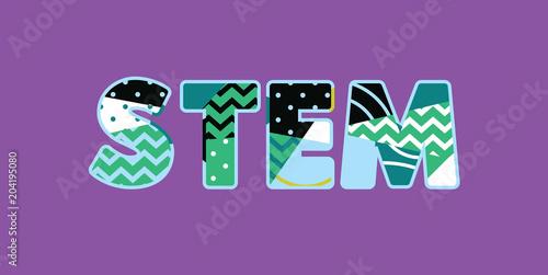 STEM Concept Word Art Illustration
