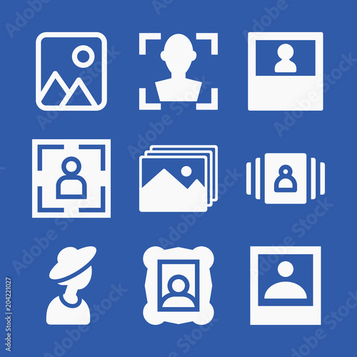Photo related set of 9 icons