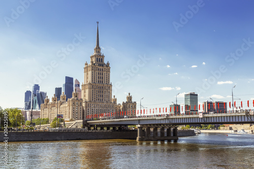 Plexiglas Moskou View of the hotel