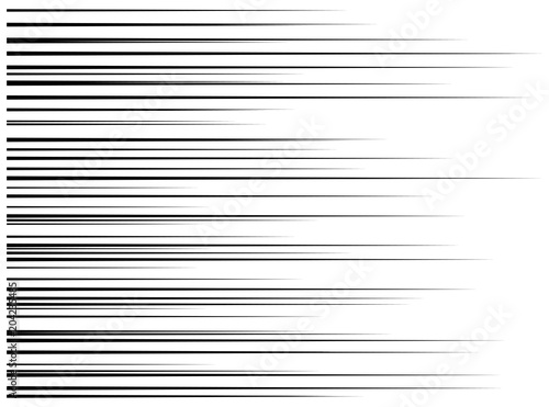 horizontal motion speed lines for comic book - 204235485