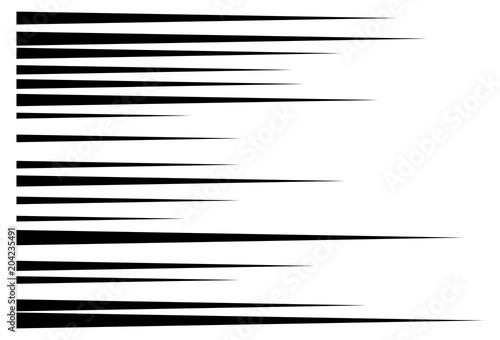horizontal motion speed lines for comic book - 204235491
