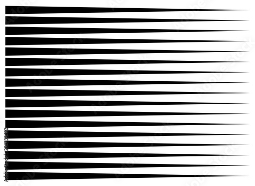 horizontal motion speed lines for comic book - 204235492