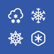 Cold related set of 4 icons