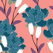 Abstract elegance pattern with floral background. - 204243071