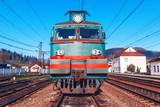 electric locomotive on rails