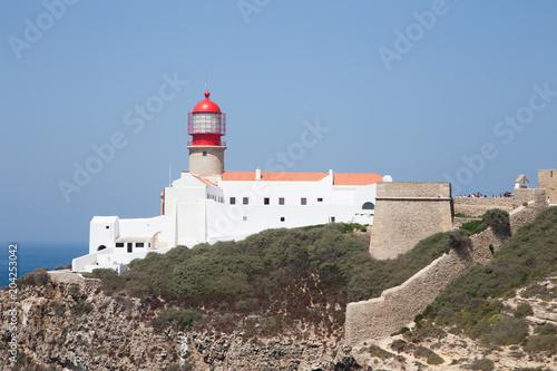 Fotobehang Vuurtoren leuchtturm in sagres portugal