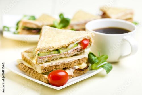 Fototapeta Croque Monsieur - Classic French Bistro Sandwich