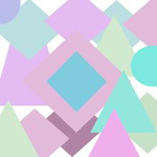 Pastell Geometrische Figuren Hintergrund Sticker