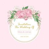 Vector floral wreath. Flowers, leaves and twigs. Composition for a wedding or a postcard. Vector illustration.