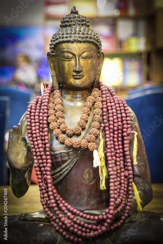 Plexiglas Boeddha metal buddha statue, oriental deity