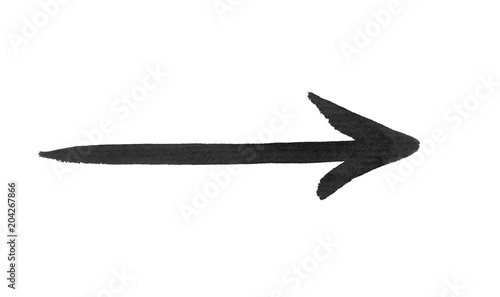 Black arrow isolated on white background © photolink
