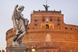Bridge of Sant Angelo and Mausoleum of Hadrian - Castel Sant Angelo in Rome. Italy