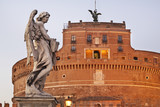 Bridge of Sant Angelo and Mausoleum of Hadrian - Castel Sant Angelo in Rome. Italy - 204272244