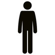 figure human silhouette avatar vector illustration design