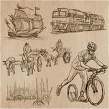 Transport, Transportation around the World - An hand drawn vector collection. - 204278476