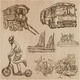 Transport, Transportation around the World - An hand drawn vector collection. - 204278829
