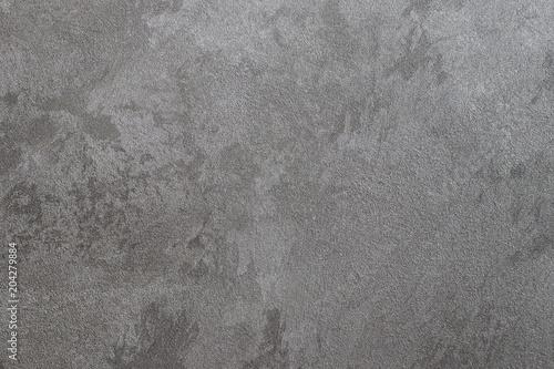 In de dag Betonbehang Texture of gray decorative plaster.