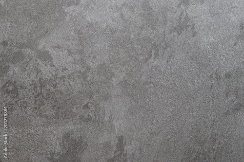 Fototapeta Texture of gray decorative plaster.