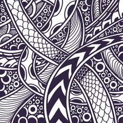 Abstract Zen tangle Zen doodle background black on white  for coloring page or adult coloring book or for print on t shirt or for decoration package and different things