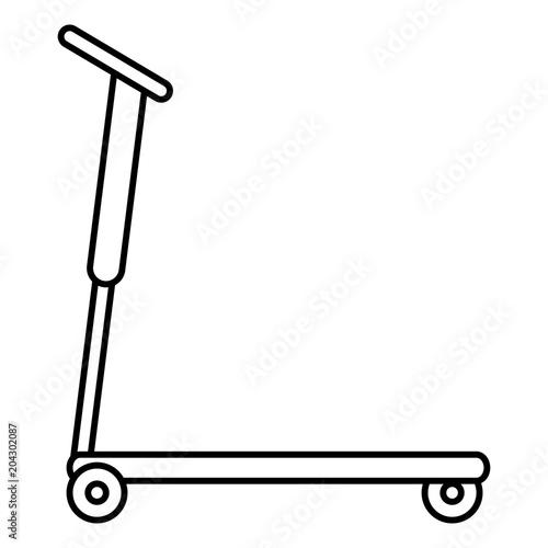 Plexiglas Skateboard skate board isolated icon vector illustration design