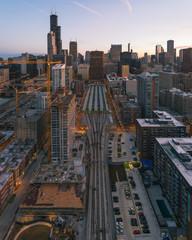 Chicago Train Tracks  © Razvan