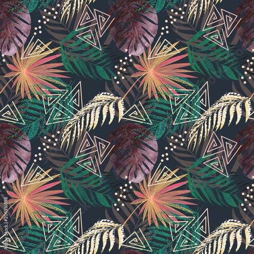 bezszwowy-kolorowy-tropikalny-wzor-liscie-palmy