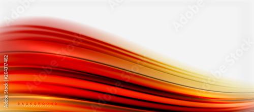 Zamazany fluid barwi tło, abstrakcjonistyczne fala linie, wektorowa ilustracja