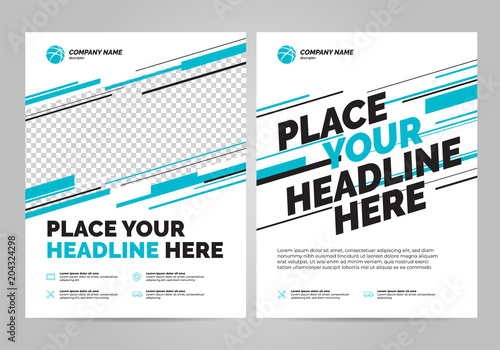 flyer design sports invitation template can be adapt to brochure