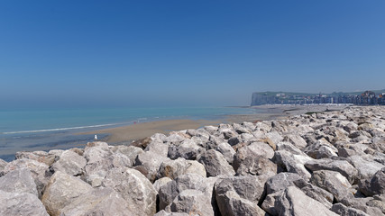 Coast of Mers-les-bains seaside town © hassan bensliman