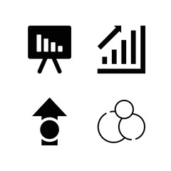 Filled graphics icon set