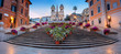 Quadro Rome. Panoramic cityscape image of Spanish Steps in Rome, Italy during sunrise.