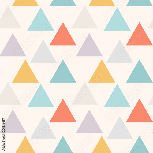 Triangular background. Seamless geometric pattern. Abstract triangle geometrical background. Vector illustration. - 204356637