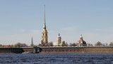 Saint Petersburg, Russia, the Peter and Paul fortress - historic landmark, first building in city. Sunny day. Camera locked down. - 204357051