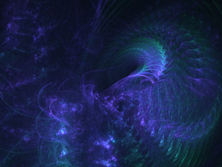 Abstract blue fractal ornaments background