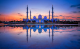 Sonnenuntergang Sheikh Bin Zayed Grand Mosque