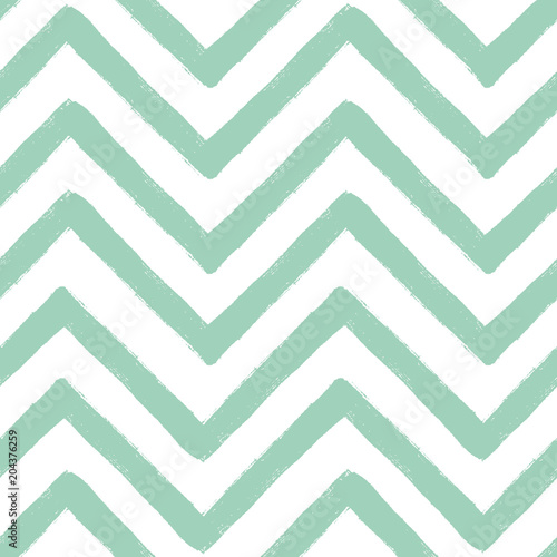 Hand drawn textured zig zag seamless pattern. Vector ilustration. - 204376259