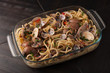spaghetti with fish - Italian cuisine - 204380038